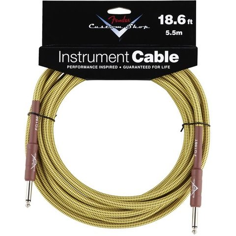 Fender Custom Shop Performance Series Cable, 18.6', Tweed