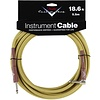 Fender Custom Shop Performance Series Cable, 18.6', Tweed, Angled