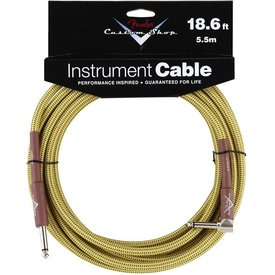 Fender Fender Custom Shop Performance Series Cable, 18.6', Tweed, Angled