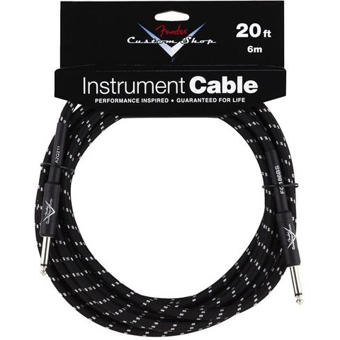 Fender Custom Shop Performance Series Cable, 20', Black