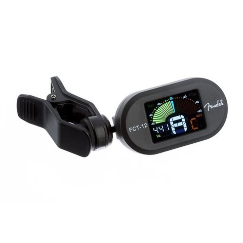 Fender FCT-12 Color Clip-On Tuner, Black