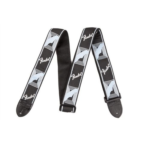 Fender Monogram Guitar Strap Black, Light Grey, Blue