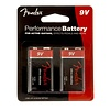 Fender Performance 9V Battery, Two Pack