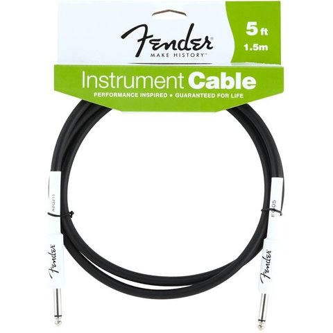 Fender Performance Series Instrument Cable, 5', Black