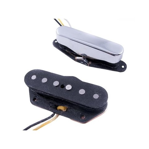 Fender Twisted Tele Pickups, Black/Chrome (2)