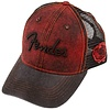 Fender Washed Trucker, Dark Red/Blk, One Size
