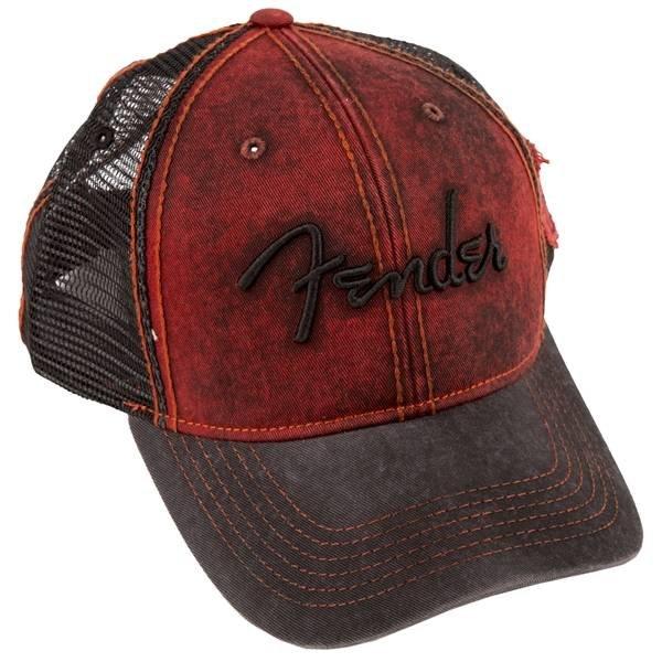 Fender Fender Washed Trucker, Dark Red/Blk, One Size