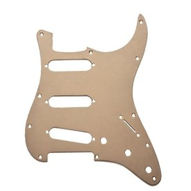 Fender Pickguard, Stratocaster S/S/S, 11-Hole Mount, Gold Anodized Aluminum, 1-Ply