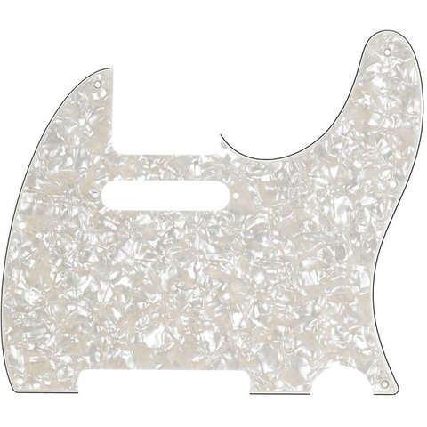 Pickguard, Telecaster, 8-Hole Mount, Aged White Pearl, 4-Ply