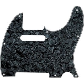 Fender Pickguard, Telecaster, 8-Hole Mount, Black Pearl, 4-Ply