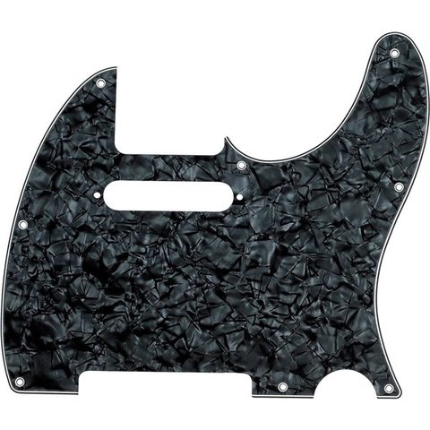 Pickguard, Telecaster, 8-Hole Mount, Black Pearl, 4-Ply