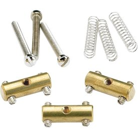 Fender Pure Vintage '52 Telecaster Saddle Kit, Brass (3)