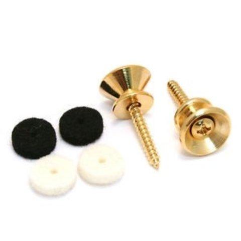 Pure Vintage Strap Buttons, Gold (2)