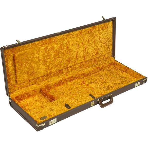 Fender G&G Deluxe Jaguar/Jazzmaster/Toronado/Jagmaster Case Brown Gold Plush Interior