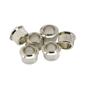 Fender Vintage-Style Guitar Tuning Machine Bushings (6), Nickel