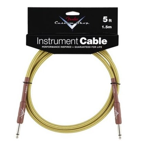 Fender Custom Shop Performance Series Cable, 5', Tweed