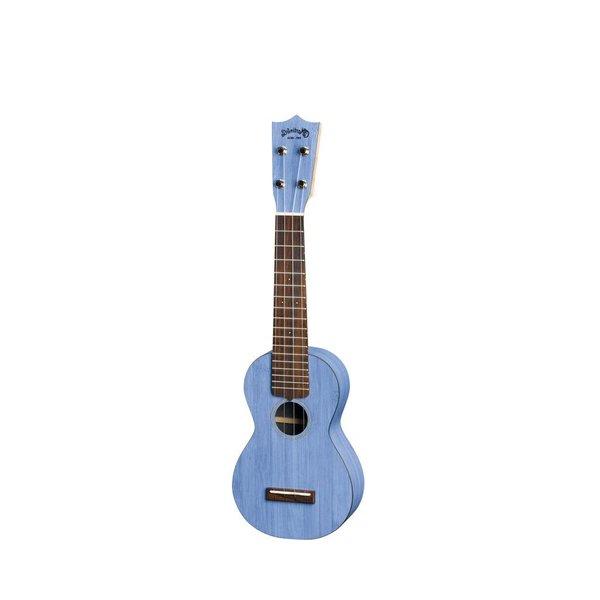 Martin Martin 0X Ukulele Bamboo Blue Lefty Ukulele w/ Deluxe Bag