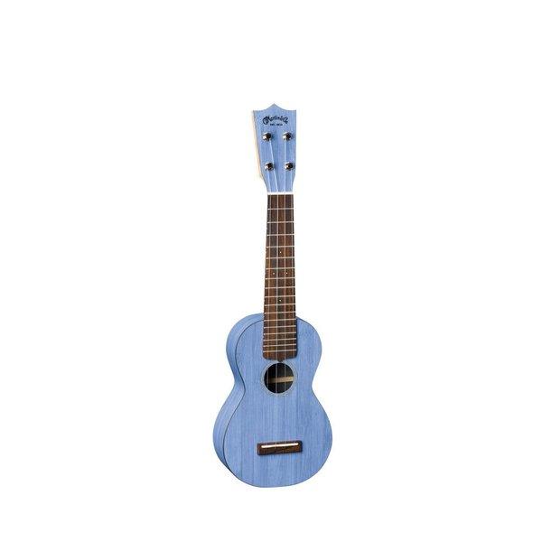 Martin Martin 0X Ukulele Bamboo Blue Ukulele w/ Deluxe Bag