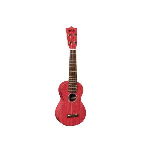 Martin 0X Ukulele Bamboo Red Ukulele w/ Deluxe Bag