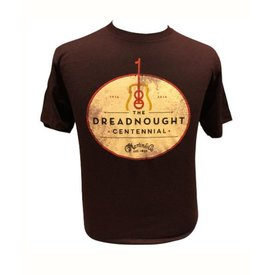 Martin Martin Dreadnought Centennial T-Shirt, Burgundy