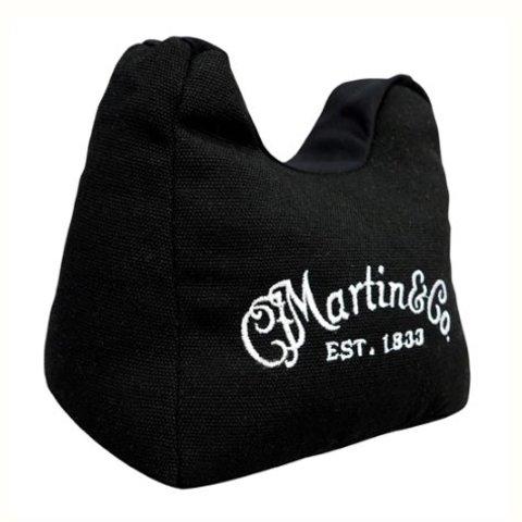 Martin 18A0076 Acoustic Guitar Neck Rest Holder Bean Bag with White Logo, Black