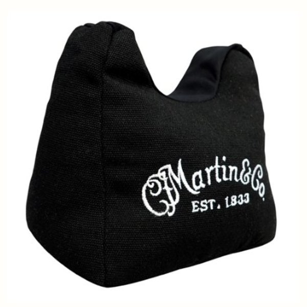 Martin Martin 18A0076 Acoustic Guitar Neck Rest Holder Bean Bag with White Logo, Black