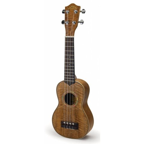 Lanikai CMTU-S All Hawaiian Curly Mango TunaUke Equipped Soprano Ukulele