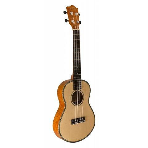 Lanikai SOTTU-C Solid Spruce Top TunaUke Equipped Thinline Concert Ukulele