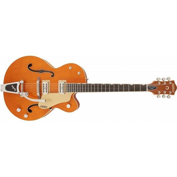 Gretsch Guitars Gretsch G6120SSLVO Brian Setzer Nashville with Bigsby, TV Jones Setzer Pickups, Vintage Orange Stain, Lacquer