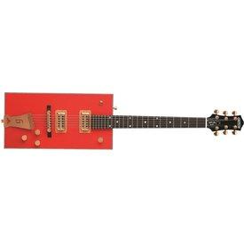 """Gretsch Guitars Gretsch G6138 Bo Diddley, """"G"""" Cutout Tailpiece, Ebony Fingerbrd, Firebird Red"""