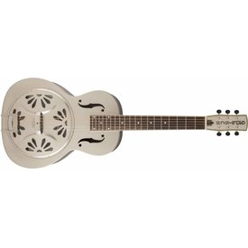 Gretsch Guitars Gretsch G9231 Bobtail Steel Square-Neck A.E., Steel Body Spider Cone Resonator Guitar, Fishman Nashville Resonator Pickup