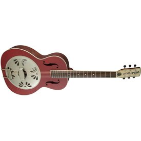 Gretsch Guitars Gretsch G9241 Alligator Biscuit Round-Neck Resonator Guitar with Fishman Nashville Pickup, Chieftain Red