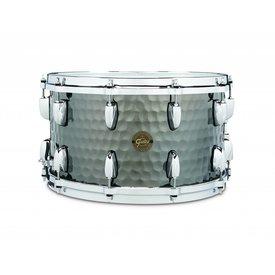 """Gretsch Drums Gretsch 8"""" X 14"""" Hammered Black Steel Snare Drum"""