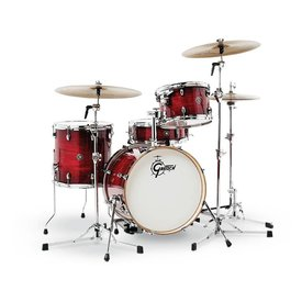 Gretsch Drums Gretsch CT1-J484-GCB Catalina Club 4-Pc Shell Pack Gloss Crimson Burst