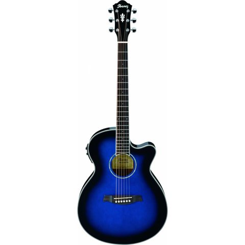 Ibanez AEG10IITBS AE Acoustic Electric Guitar Transparent Blue Sunburst