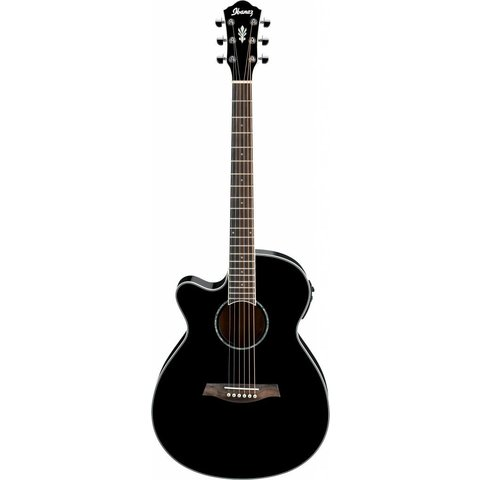 Ibanez AEG10LIIBK AE Acoustic Electric Guitar, Left-Handed Black