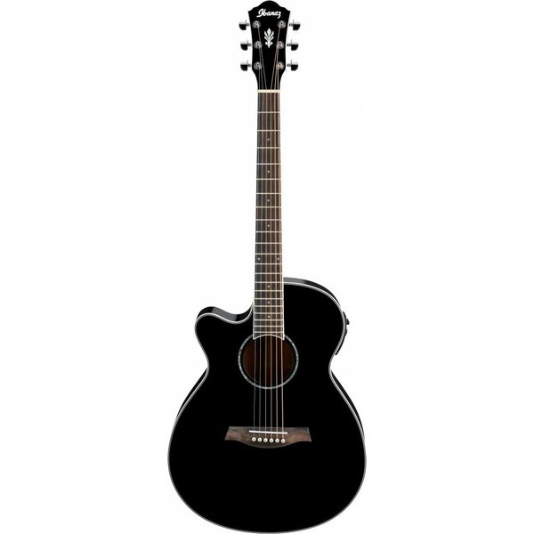 Ibanez Ibanez AEG10LIIBK AE Acoustic Electric Guitar, Left-Handed Black