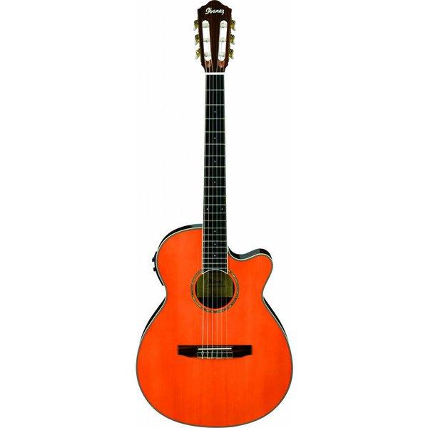 Ibanez Ibanez AEG10NIITNG AE Acoustic Electric Nylon String Guitar Tangerine