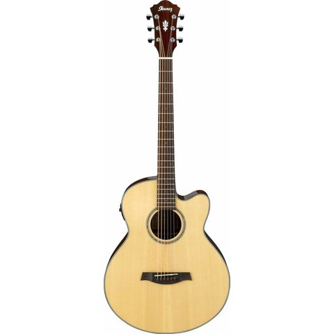 Ibanez AELBT1NT AEL Acoustic Electric Baritone Guitar Natural