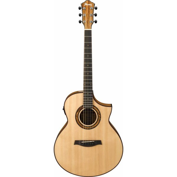 Ibanez Ibanez AEW23ZWNT AEW Zebrawood Back & Sides Acoustic Electric Guitar