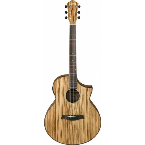 Ibanez AEW40ZWNT AEW Zebrawood Acoustic Electric Guitar Natural