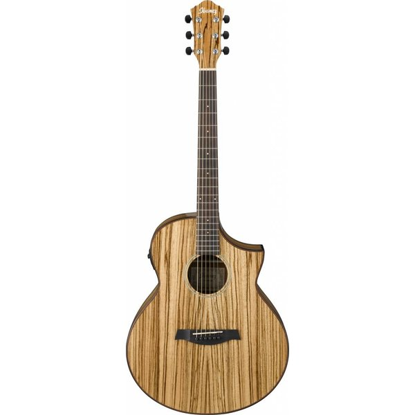 Ibanez Ibanez AEW40ZWNT AEW Zebrawood Acoustic Electric Guitar Natural