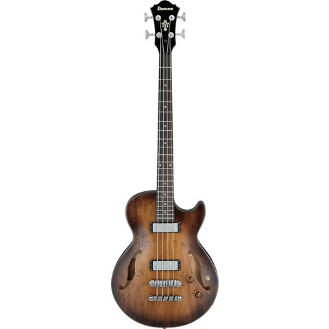 Ibanez AGBV200ATCL Artcore Semi-Hollowbody Bass Low Gloss Tobacco Sunburst