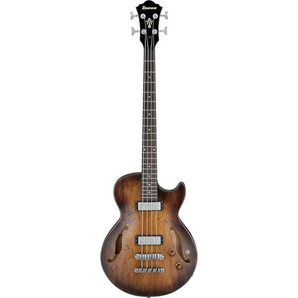 Ibanez Ibanez AGBV200ATCL Artcore Semi-Hollowbody Bass Low Gloss Tobacco Sunburst
