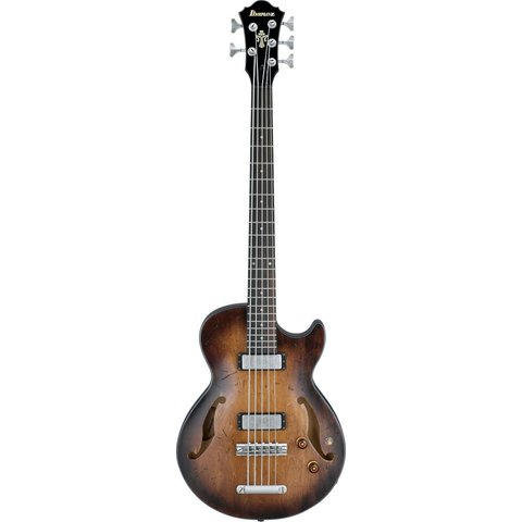 Ibanez AGBV205ATCL Artcore Vint 5-String Semi-Hollow Bass Low Glos Tobacco Burst