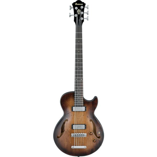 Ibanez Ibanez AGBV205ATCL Artcore Vint 5-String Semi-Hollow Bass Low Glos Tobacco Burst