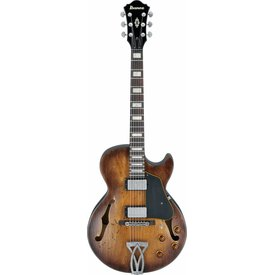 Ibanez Ibanez AGV10ATCL Artcore Vintage Hollowbody Elec Low Gloss Tobacco Bust w/ Case