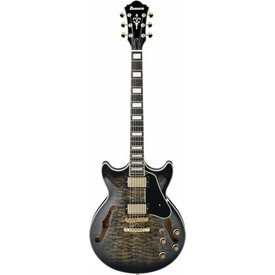 Ibanez Ibanez AM93TKS Artcore Expressionist Semi-Hollow Transparent Black w/ Case