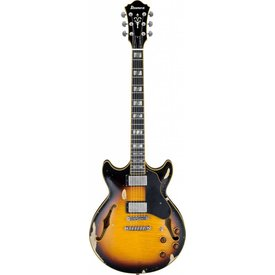 Ibanez Ibanez AMV100FMDYSL Artcore Vintage Semi-Hollowbody Low Gloss Yellow SB w/ Case