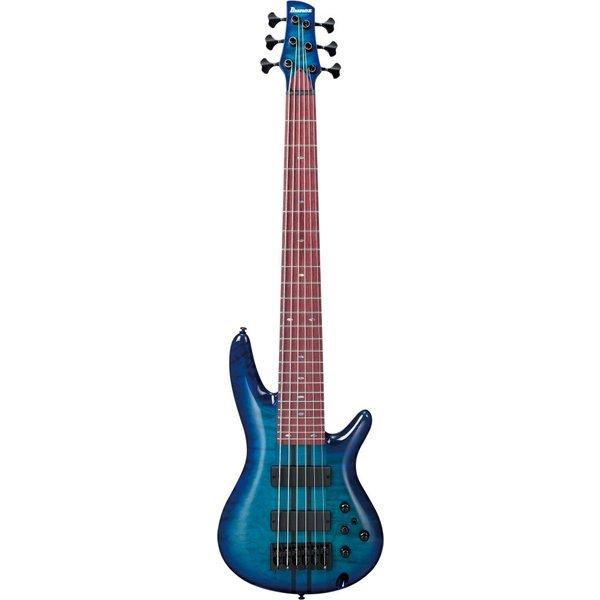 Ibanez Ibanez ANB306E Adam Nitti Signature Model 6-String Electric Bass Blue Burst w/Case